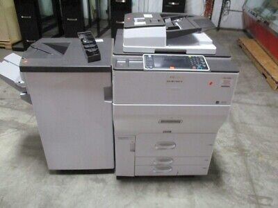 Ricoh Mp C8002 Color Copier Printer Super Fast 80 Ppm With Finisher Hard To Find