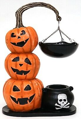 New Yankee Candle Halloween Stacked Jack O Lanterns Hanging Warmer Tart Burner
