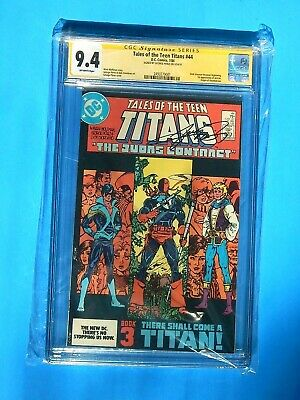 Tales Of The Teen Titans#44 Cgc Ss 9.4 Signed By George Perez Deathstroke Origin