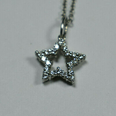 Tiffany & Co Platinum Diamond Encrusted Large Star Necklace Suede Box Retired