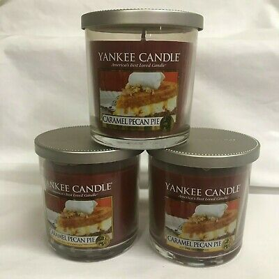 Yankee Candle (3) Caramel Pecan Pie Small 7 Oz Jar Candles Three!! Retired!