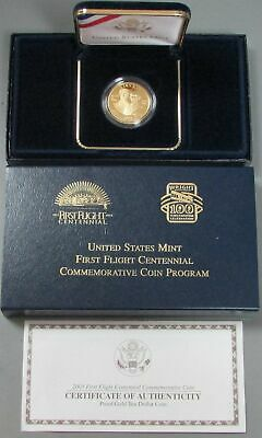 2003 West Point Gold Us $10 First Flight Commemorative Coin Ogp