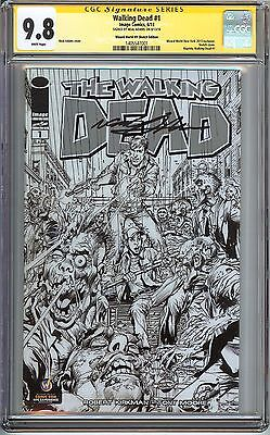 Walking Dead #1 Cgc 9.8 Nm/mt Signed Neal Adams Wizard World Ny Sketch Cover Amc