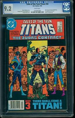 Tales Of The Teen Titans 44 Cgc 9.2 White Pgs Key Comic Book 1st Nightwing, L@@k