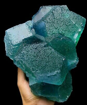 16.8lb Wow Rare Ladder-like Green Fluorite Crystal Mineral Specimen/china