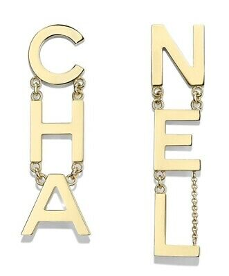 Chanel Cha Nel Sold Out Runway Name Earrings New In Box With Tags 2020
