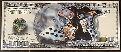 Michael Godard 100$ Bill Full House Signed Original Limited Edition # 381/400