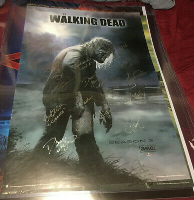 The Walking Dead Walker Autographed Poster Signed By Andrew Lincoln Wilson +