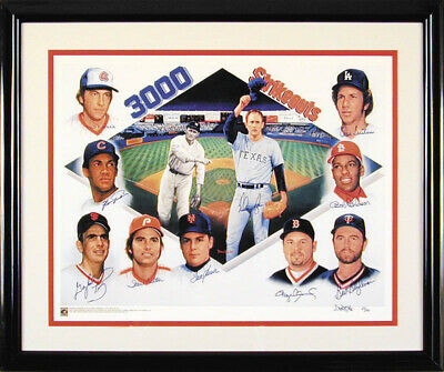 3,000 Strikeouts - Printed Art Signed In Ink With Co-signers