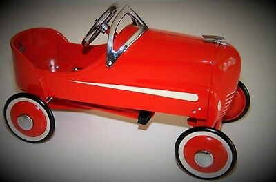 Pedal Car Race Soap Box Derby Racer Hot Rod Metal Vintage Collector Toy