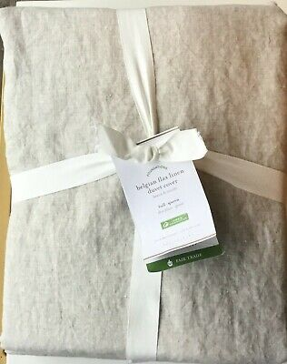 Pottery Barn Belgian Flax Linen Duvet Cover In Natural, Full/queen. New W/tags