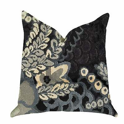Plutus Leilani Fleurs Luxury Decorative Throw Pillow In Blue Blue, Beige Double