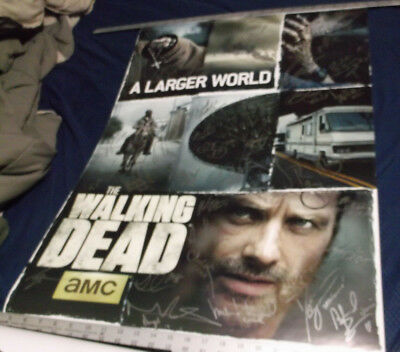 Walking Dead Cast Signed Poster Autographed By 36 Cast And Crew Scott Wilson+