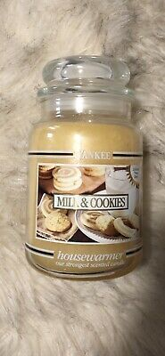 Yankee Candle - Milk & Cookies - 22 Oz - Black Band White Label Rare Htf