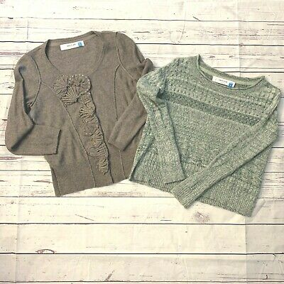 2 Sparrow Anthropologie Knit Sweaters Long Sleeve Small Fall Winter Casual Crop