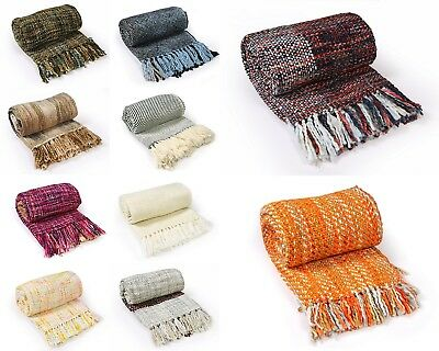 Traditional Acrylic Hand Knitted Sofa Blankets Settee Throw 10 Pcs Wholesale Lot