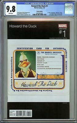 Howard The Duck #1 Cgc 9.8 Nm/mt 1st App Of Gwenpool Album Cover Homage Variant