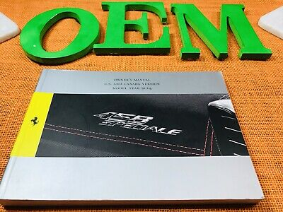 2014 Ferrari 458 Speciale Owners Manual Only ((buy Oem)) Fast Free Priority Ship