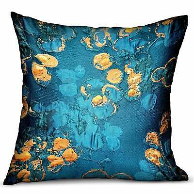 Plutus Bronze Blossom Blue Floral Luxury Decorative Throw