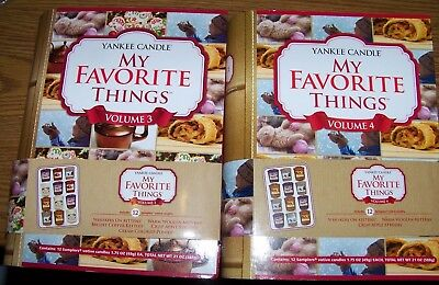 """Yankee Candle """"my Favorite Things"""" Sampler Votive Books Volumes 3"""