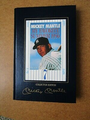 Mickey Mantle Yankee Autograph My Favorite Summer 1956 Hardcover Book Psa/dna !!