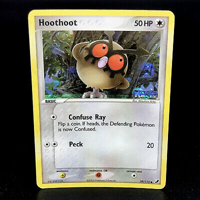 Hoothoot Reverse Holo - EX Unseen Forces 59/115 - Common Pokemon Card - NM