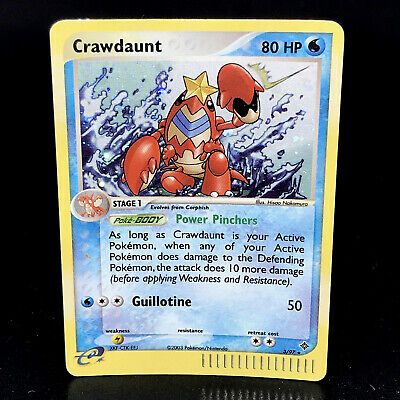 Crawdaunt Holo - EX Dragon 3/97 - Rare Pokemon Card