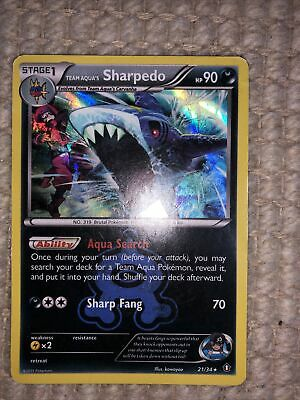 Pokemon TEAM AQUA'S SHARPEDO 21/34 - Double Crisis RARE HOLO - MINT!