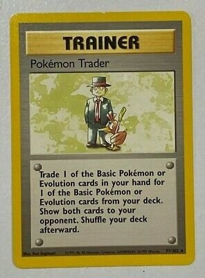 Pokemon Trainer 'Pokémon Trader' 77/102 Base Set Pokemon Card - BRAND NEW MINT