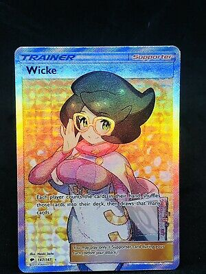 *Pokemon Wicke Full Art Trainer 147/147 SM Burning Shadows* NM