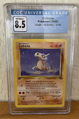 Pokemon Jungle 1st Edition Cubone 50/64 CGC 8.5 NM/Mint