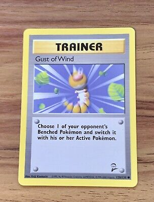 Pokemon Trainer | Gust of Wind | Base Set 2 Common | 111/130 | NM/Mint