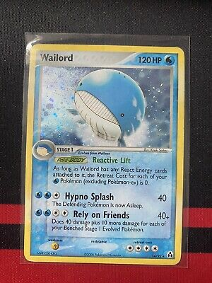 Wailord 14/92 Holo Rare EX Legend Maker MP Pokemon Card
