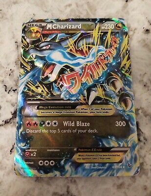M Charizard EX (x) Mega Pokemon English 2014 XY FLASHFIRE 69/106