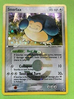 15/112 Snorlax Reverse Holo Pokemon Card - EX FireRed LeafGreen