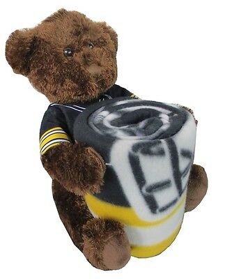 Pittsburgh Steelers Nfl Bear Mascot Pillow Fleece Throw Blanket Combo 288ct Lot