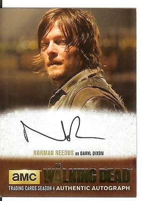 2016 The Walking Dead Season 4 Gold Foil On Card Autograph Norman Reedus Only 25