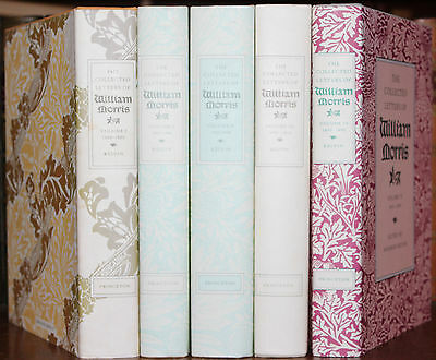 1984 The Collected Letters Of William Morris 5 Volumes Hardback Dustjackets