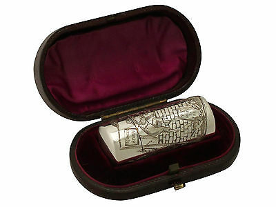 Antique Victorian Sterling Silver Scent Flask By Sampson Mordan