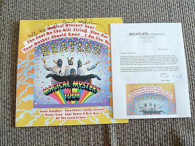 paul mccartney beatles signed magical mystery tour lp frank caiazzo certified