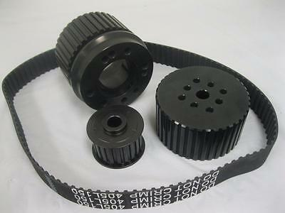 Small Block Ford 351c 351 Cleveland Black Gilmer Belt Drive Pulley Kit Sbf Hp