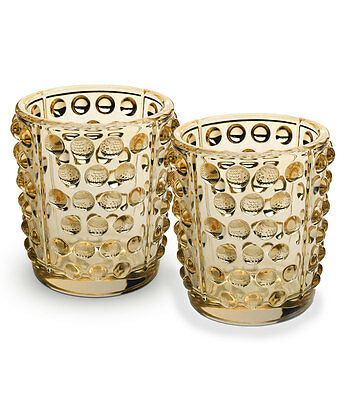 Lalique Mossi Gold Luster Votives, Pair #10370200 Brand New In Box Crystal F/sh