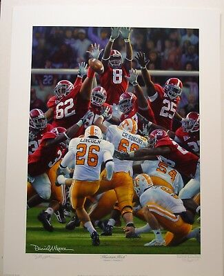 "Alabama Football Vs Tennessee ""maximum Block"" - A.p.  Edition By Daniel Moore"