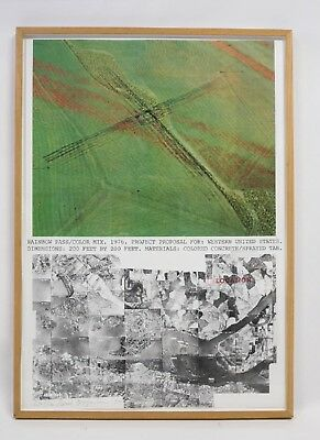 Dennis Oppenheim, Rainbow Pass/color Mix, Signed Lithograph, 1976