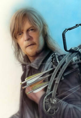 Original Calandra Airbrush Art - Daryl W/ Crossbow