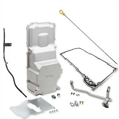 Holley 302-3k Ls Engine Retrofit Oil Pan & Dipstick Kit Cast Finish Includes: Oi