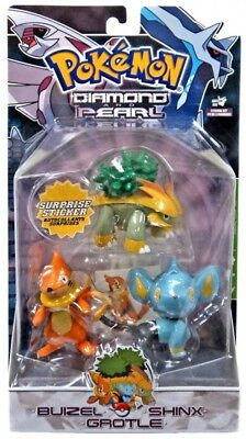 Pokemon Diamond & Pearl Series 3 Buizel, Shinx & Grotle Figure 3-Pack
