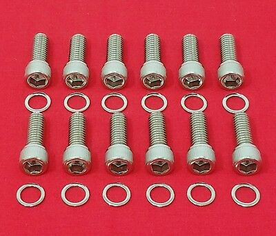 Sbc Small Block Chevy 283 327 350 383 400 Tpi Stainless Engine Header Bolt Kit