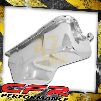 1988-96 Ford Small Block 351w Windsor Stock Capacity Truck Oil Pan - Chrome