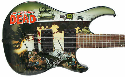 Robert Kirkman Signed Peavey Walking Dead Cover Electric Guitar